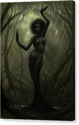 Queen Of Mud Canvas Print by Caroline Jamhour