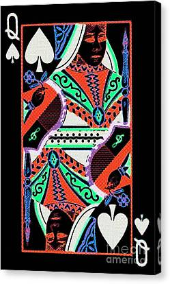 Queen Of Spades Canvas Print by Wingsdomain Art and Photography