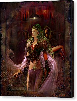 Canvas Print featuring the painting Queen Of The Dead by Steve Roberts