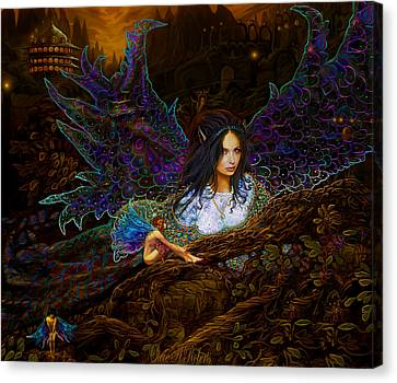 Canvas Print featuring the painting Queen Of The Fairies by Steve Roberts