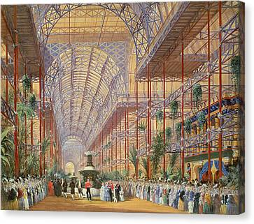 Queen Victoria Opening The 1862 Exhibition After Crystal Palace Moved To Sydenham Canvas Print by Joseph Nash