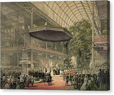 Queen Victoria Presides At The State Canvas Print by Everett