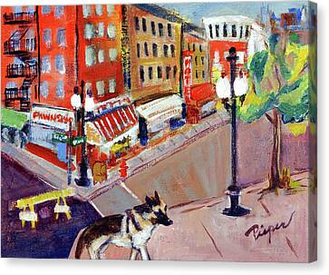 Queenie On Forsythe Street Manhattan Nyc Canvas Print