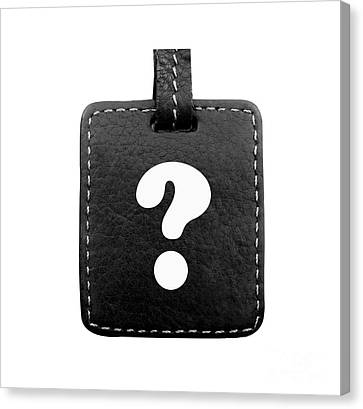 Communication Problems Canvas Print - Question Mark by Blink Images