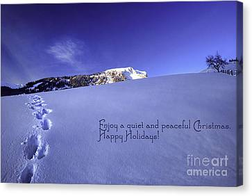Quiet And Peaceful Christmas Canvas Print by Sabine Jacobs