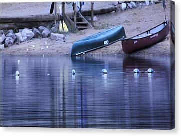 Quiet Canoes Canvas Print by Janie Johnson