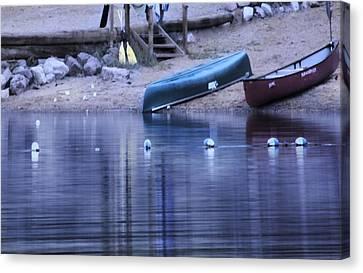 Quiet Canoes Canvas Print