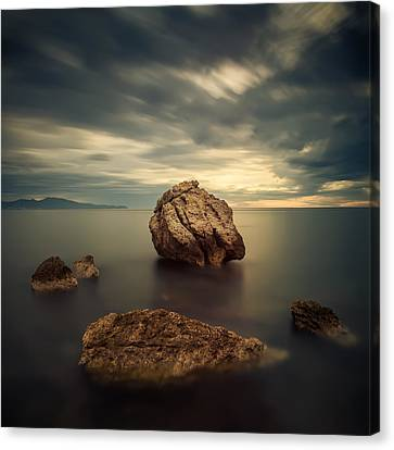 Quiet Rocks Canvas Print by Xose Casal Photography