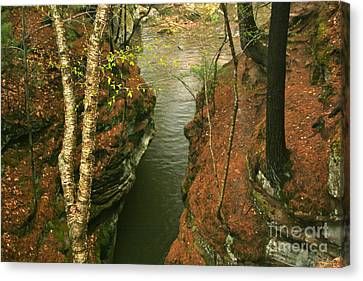 Quiet Rocky Gorge Canvas Print by Joan McArthur