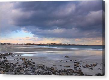 Quiet Winter Day At York Beach Canvas Print by John Burk