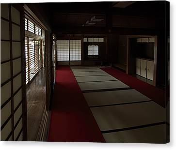 Quietude Of Zen Meditation Room - Kyoto Japan Canvas Print by Daniel Hagerman