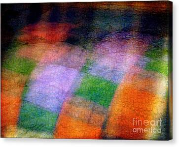 Quilt In The Cupboard Canvas Print by Judi Bagwell