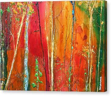 Quinacridone Hollow  Canvas Print