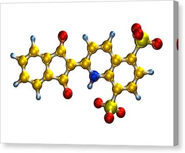 Quinoline Yellow Food Colouring Molecule Canvas Print by Dr Mark J. Winter