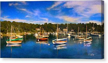 Cape Cod Canvas Print - Quisset Harbor by Michael Petrizzo