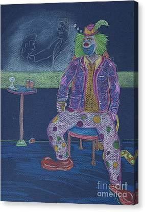 Quit Clowning Around Canvas Print by Michael Mooney