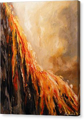 Quite Eruption Canvas Print by Karen  Ferrand Carroll