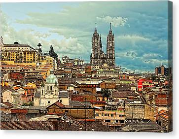 Quito Cathedral And Sorroundings Canvas Print