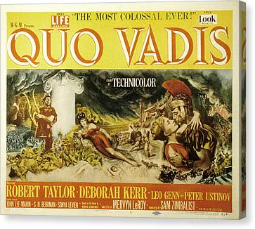 Quo Vadis, Peter Ustinov, Patricia Canvas Print by Everett