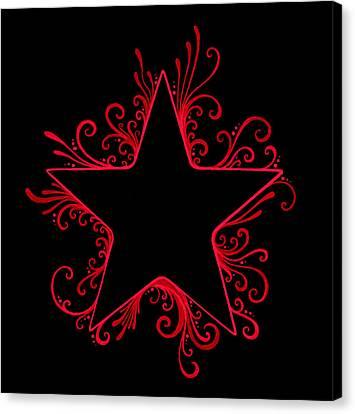 R And B Star Flair Canvas Print by Mandy Shupp