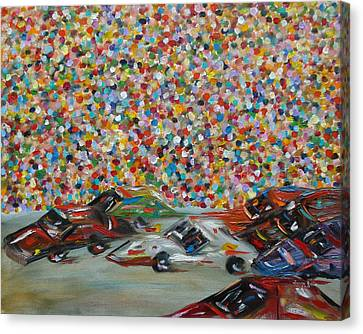 Race Day Canvas Print by Judith Rhue