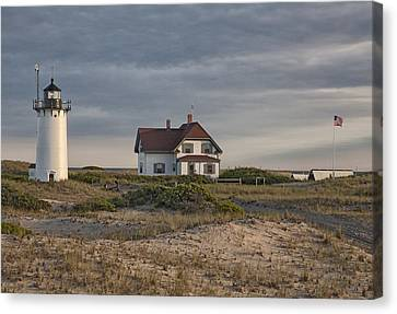 Race Point Lighthouse Canvas Print by Nicholas Palmieri