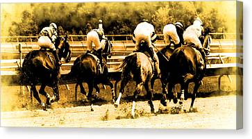 Canvas Print featuring the photograph Race To The Finish Line by Alice Gipson
