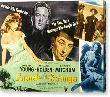 Rachel And The Stranger, Loretta Young Canvas Print