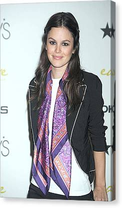 Rachel Bilson At In-store Appearance Canvas Print by Everett