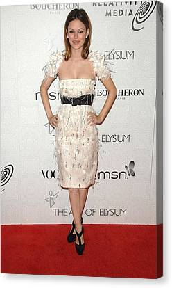 Rachel Bilson Wearing A Chanel Dress Canvas Print