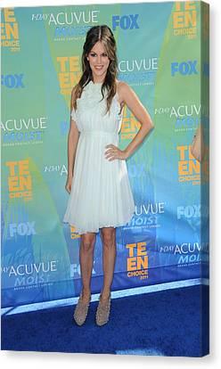 Rachel Bilson Wearing A Chloe Dress Canvas Print