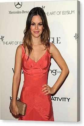 Rachel Bilson Wearing A Zac Posen Dress Canvas Print