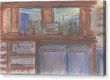 Canvas Print featuring the pastel Rachel's Office by Denny Morreale