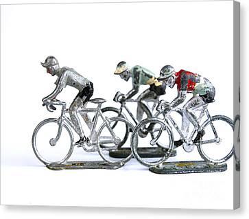 Racing Cyclist Canvas Print by Bernard Jaubert