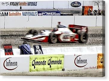 Racing Canvas Print by Donna Blackhall