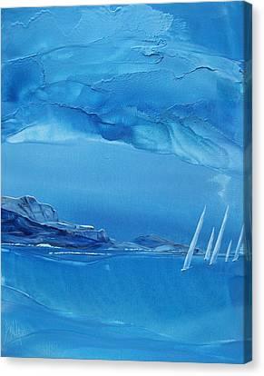 Racing Sailboats Canvas Print by Danita Cole