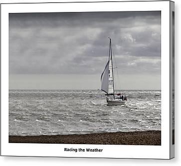 Racing The Weather Canvas Print by Nigel Jones