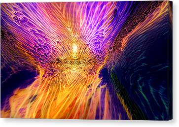Radiant Flow Canvas Print