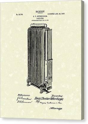Radiator 1907 Patent Art Canvas Print