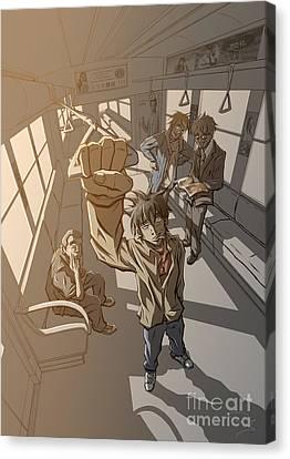 Radical Dreamer 2 Tomodachi Canvas Print by Tuan HollaBack