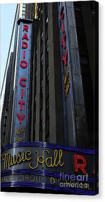 Radio City Music Hall Cirque Du Soleil Canvas Print by Lee Dos Santos