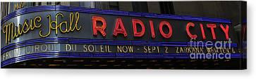 Radio City Music Hall Cirque Du Soleil Zarkana II Canvas Print by Lee Dos Santos