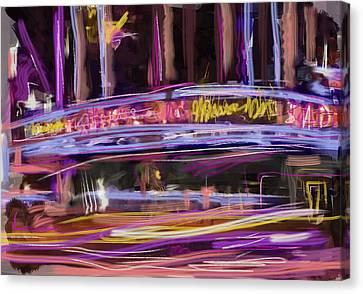 Radio City Canvas Print by Russell Pierce
