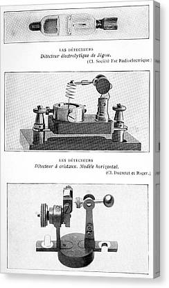 Radio Receiver Components, 1914 Canvas Print by