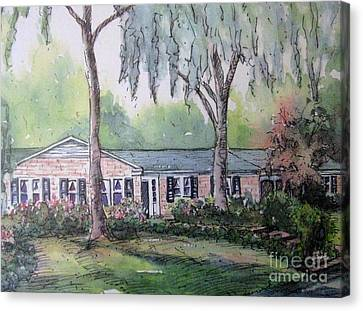 Canvas Print featuring the pastel Ragan's Home 1 by Gretchen Allen