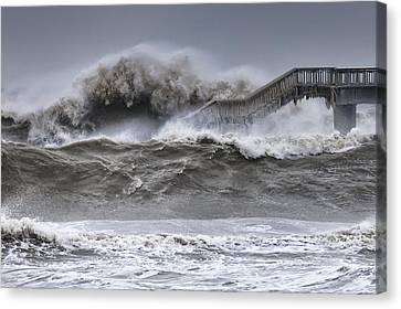 Raging Black Sea Canvas Print by Evgeni Dinev