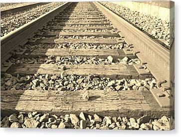 Rail Time Canvas Print by Sharon Farris