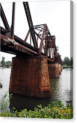Canvas Print featuring the photograph Railroad Bridge 1 by Kay Lovingood