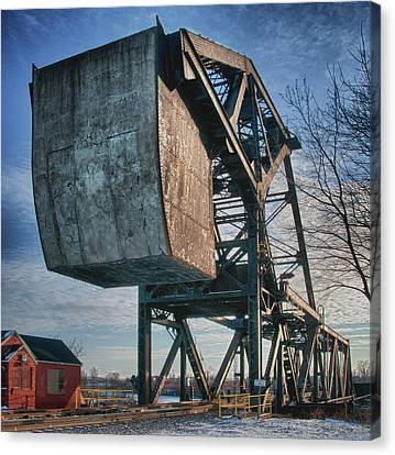 Railroad Bridge 10615c Canvas Print by Guy Whiteley