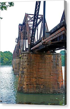 Canvas Print featuring the photograph Railroad Bridge 2 by Kay Lovingood